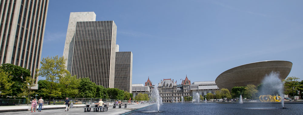 photograph of the Empire State Plaza
